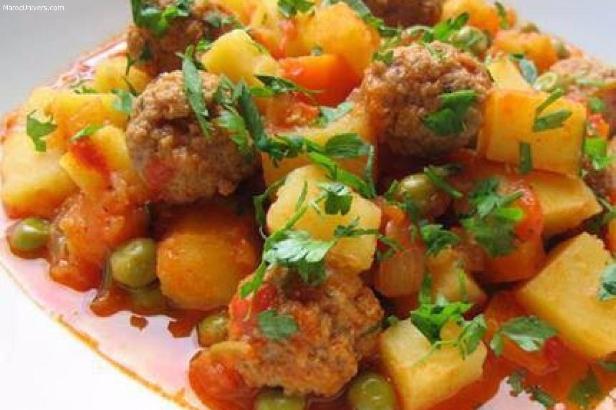 Boulettes de viandes et légumes
