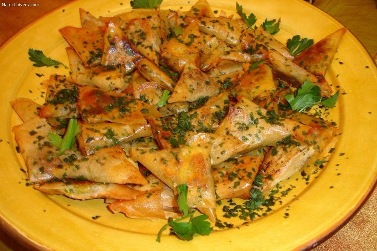 Briouates de crevettes à la chermoula