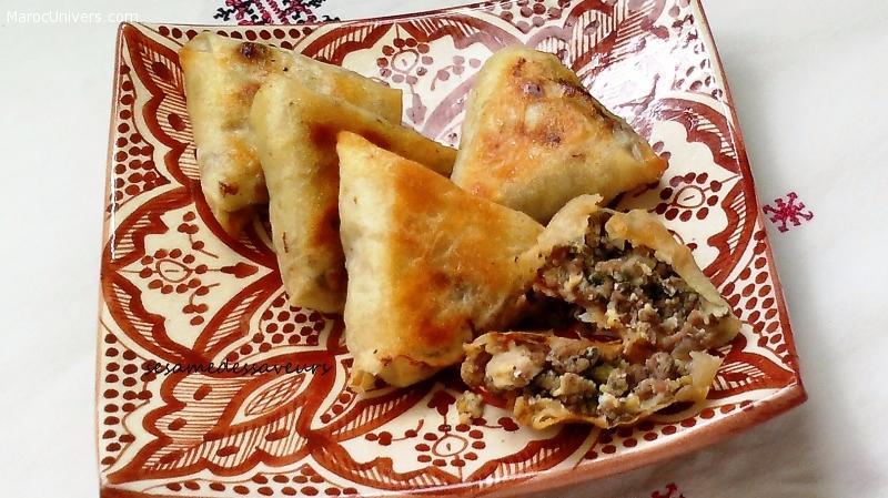 Briouates marocaines à la viande hachée