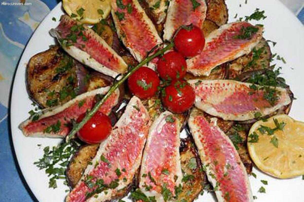 Filet de rouget courgette à la marocaine