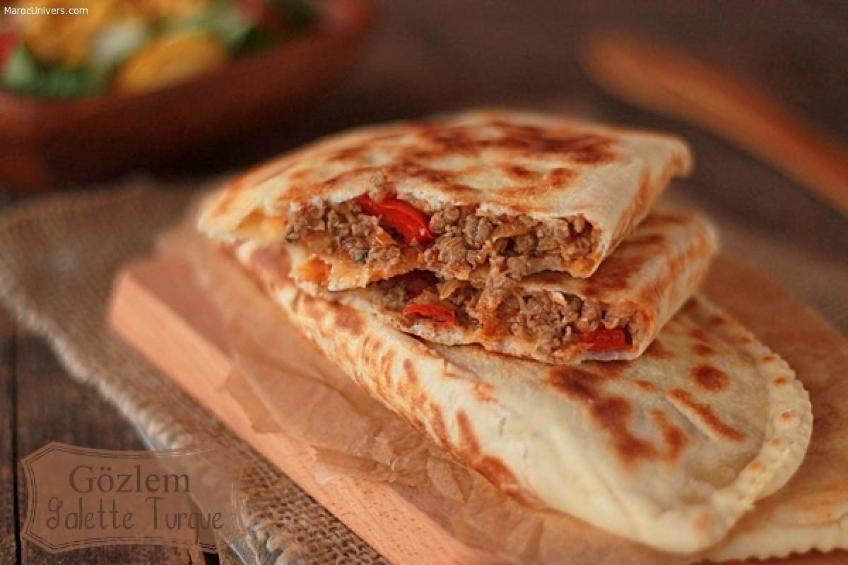 Gozleme: Crepes turques a la viande hachée