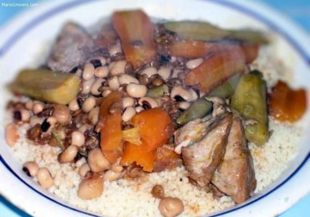 Couscous berbère à l'agneau et aux légumes