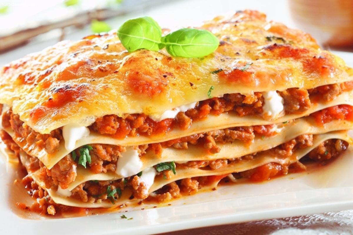 Lasagnes à la viande de boeuf hachée