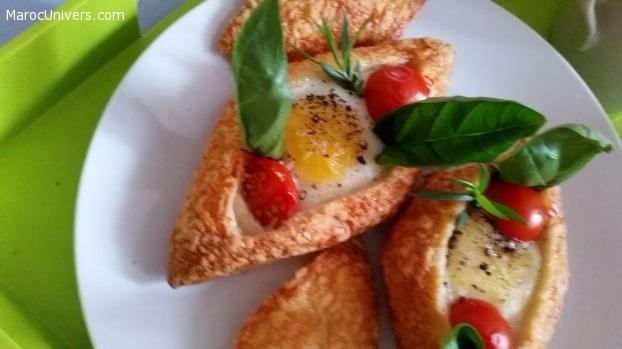 Œuf cocotte cuit dans un pain ou Egg boat