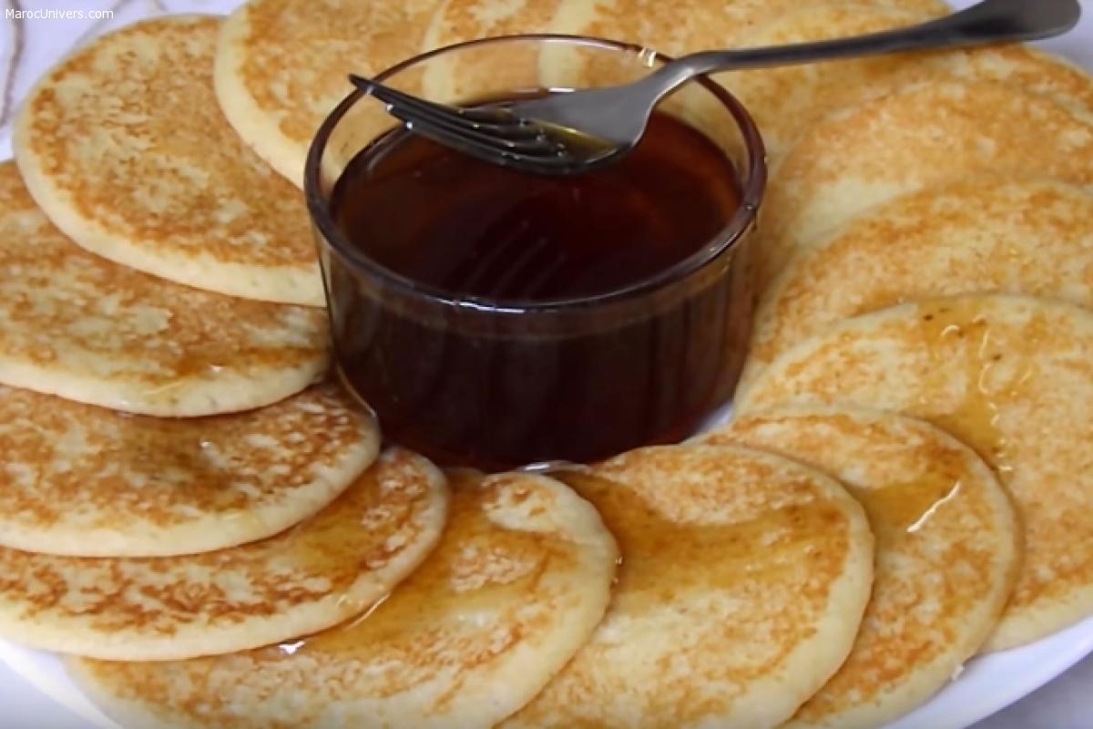 Pancakes à la semoule حريشات بانكيك للفطور و اللمجة