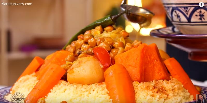 Recette de Couscous marocain aux légumes