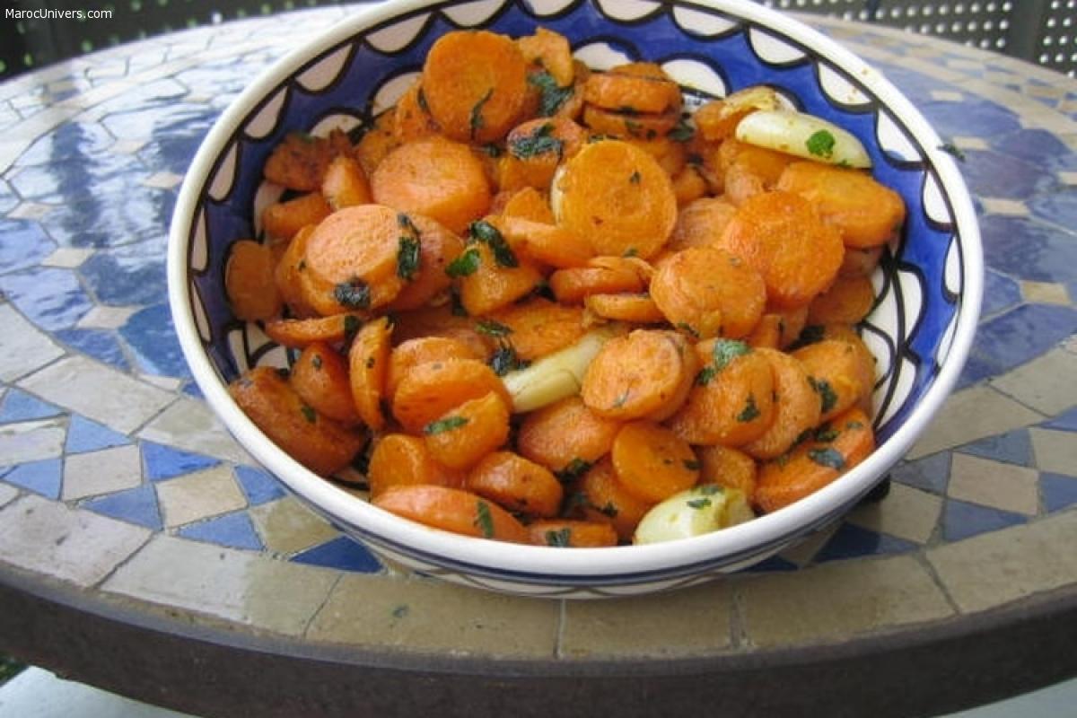 Recette Salade de carottes à la marocaine