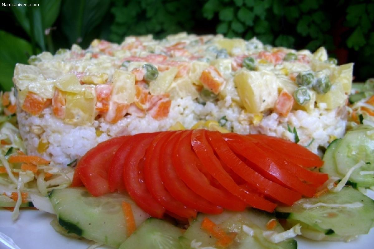 Salade de riz au thon et légumes facile