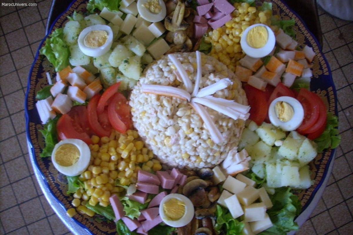 Salade variée marocaine - idéal pour invités