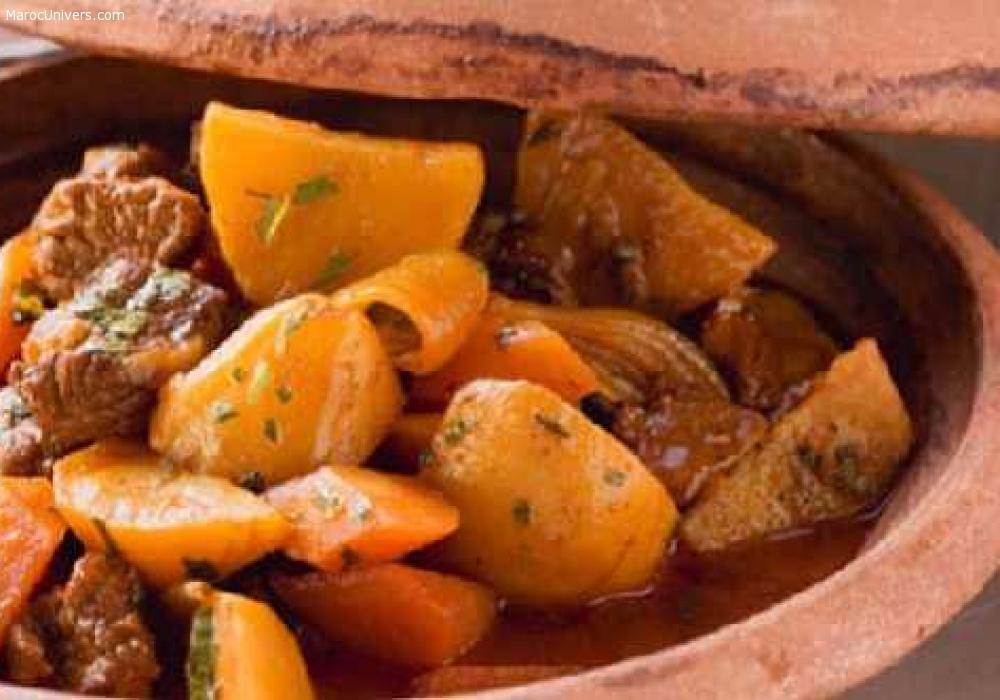 Tajine de viande aux pommes de terre