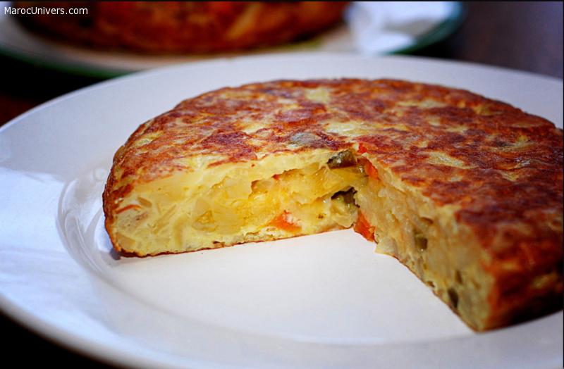 Tortilla espagnole aux pommes de terre facile