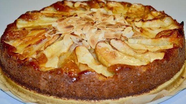 Cake aux pommes sans oeufs/كيكة بدون بيض بالتفاح تستحق التجربة