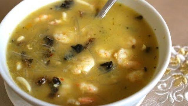 soupe legumes fruits de mer شوربة فواكه البحر بالخضر - YouTube