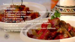 Recette de Zaâlouk d'aubergines et Tektouka marqa - Entrée (VF)