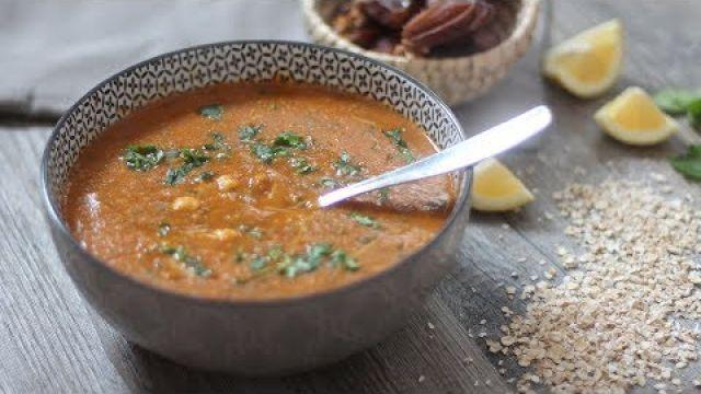 Recette de harira rapide à l'avoine (soupe marocaine )