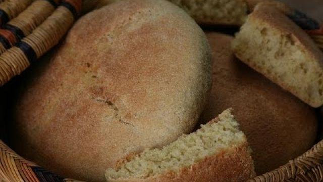 Pain à la Semoule de Blé - Wheat Semolina Bread - خبز بطريقة سهلة وبسيطة