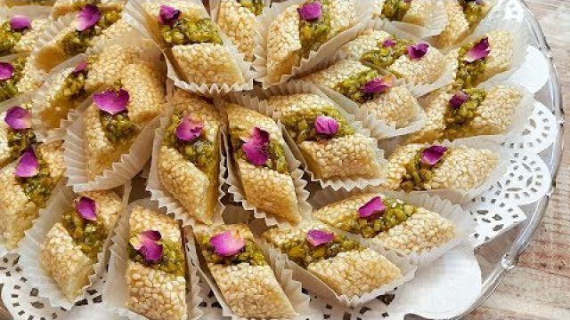 gateau de printemps حلوة اللوز بالزنجلان و البيسطاش