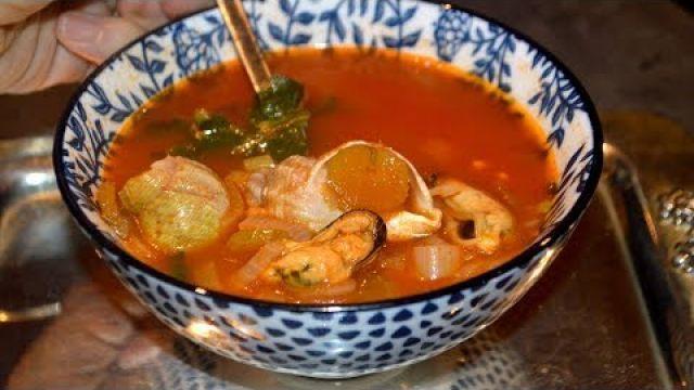 Soupe aux fruits de mer facile