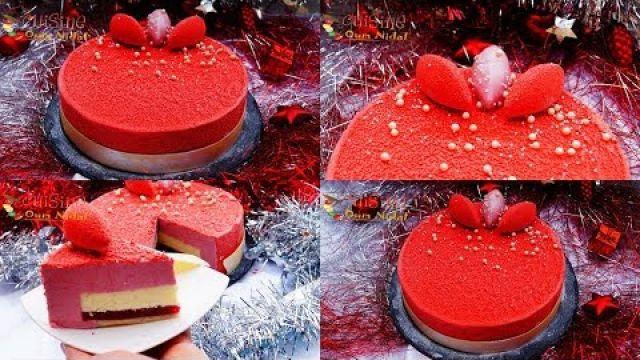 كاطو راقي بطبقات متجانسة و أكثر من لذيذة (فواكه حمراء/فاني/شوكولا) مزينة ب Velour Spray
